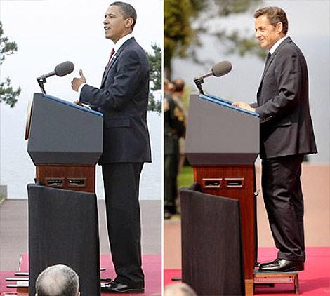 Sarkozy a la altura de Obama